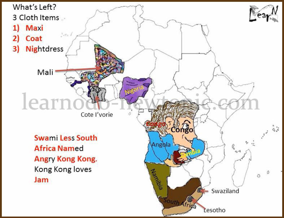 Africa Map Memorization | Campinglifestyle