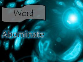 Abominate Meaning