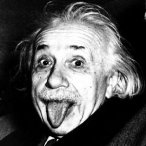 Albert-Einstein-Tongue out