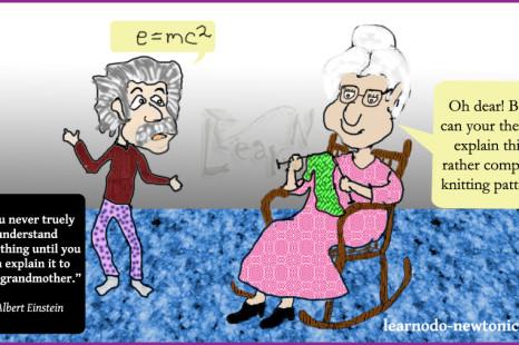 Einstein grandmother quote
