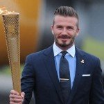 David Beckham 2012 London Olympic torch