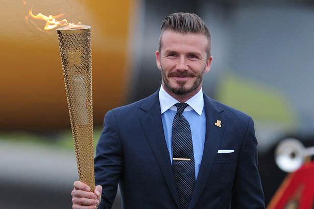 David Beckham 2012 London Olympic torch