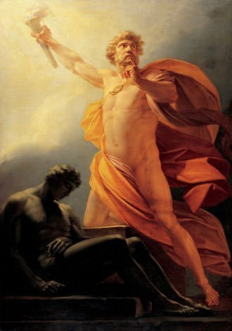 Statue of Zeus at Olympia Depiction