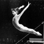 Nadia Comaneci on Uneven Bars
