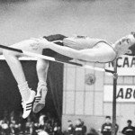 Dick Fosbury performs the Flop