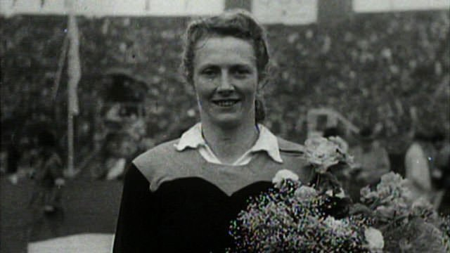 Fanny Blankers-Koen 200 metres at the 1948 Olympics