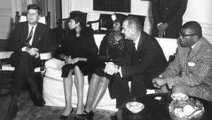 President JFK with Wilma Rudolph