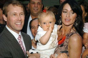 Nadia Comaneci, Bart Conner and their son Dylan