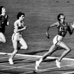 Wilma Rudolph winning the women's 100 meters