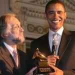 Barack Obama with Grammy award