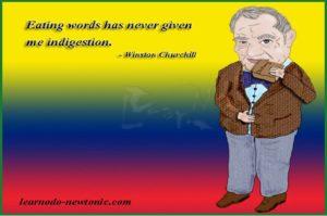 Winston Churchill on words