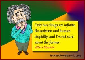Einstein quote on infinite