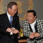 PSY teaching Ban-Ki-Moon Gangnam Style