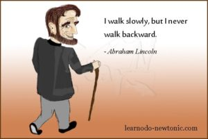 abraham-lincoln on walking