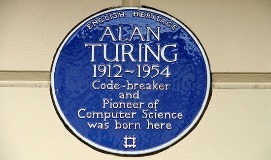 Alan Turing Blue Plaque