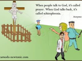 """When people talk to God..."""