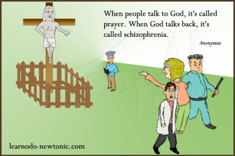 God Prayer Schizophrenia Quote