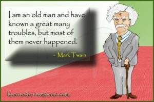 Mark Twain's quote on troubles