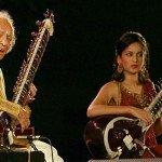 Ravi Shankar and Anoushka Shankar in 2009