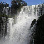 Bosetti waterfall of Iguazu Falls
