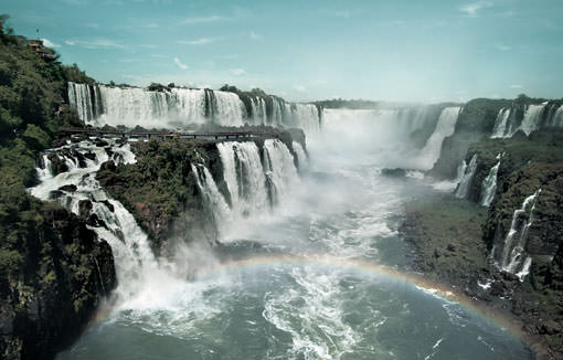 Iguazu Falls consisits of 275 waterfalls