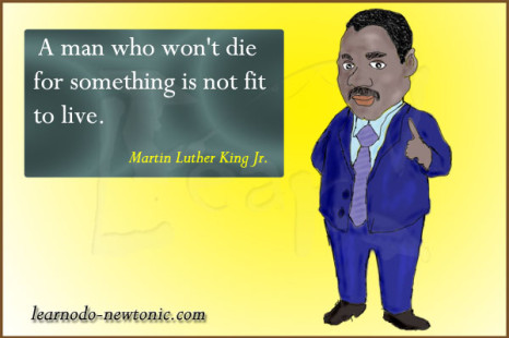 Martin Luther King Jr. on being fit to live