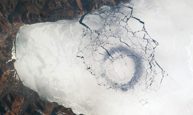Ice Circle Visible from Space