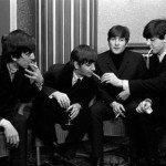 The Beatles smoking