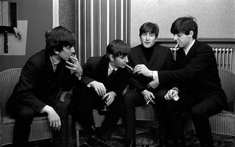 The Beatles smoking