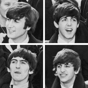 The Fab Four Beatles lineup