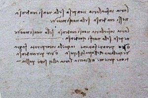 A sample of Leonardo's handwriting
