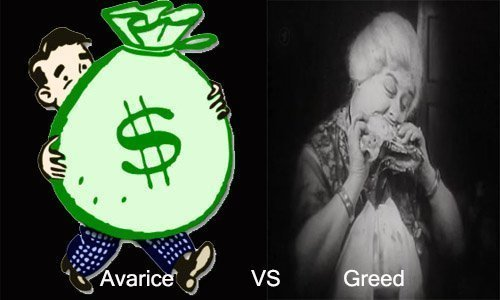Avarice vs Greed | Difference between the two Synonyms