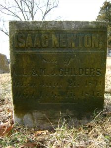 Isaac Newton's tomb