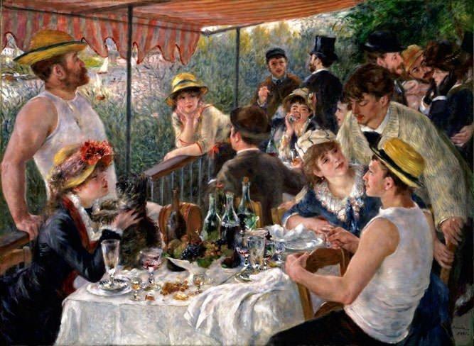Le dejeuner des canotiers by Pierre-Auguste Renoir