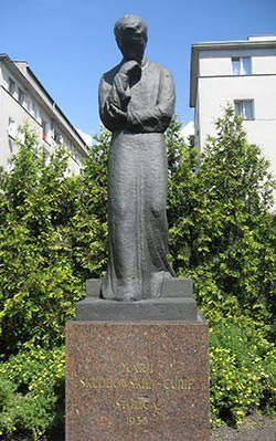 Marie Curie Statue at Warsaw