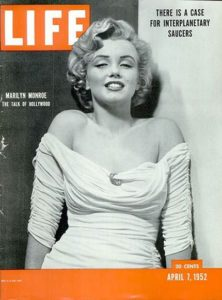 Marilyn Monroe on the cover of LIFE Magazine