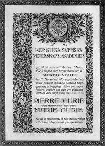 Physics Nobel Prize Certificate 1903