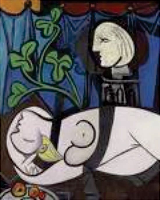 Nude, Green Leaves and Bust - Pablo Picasso