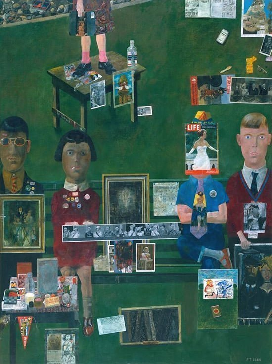 On the Balcony by Peter Blake