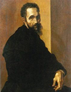 Potrait of Michelangelo by Jacopino del Conte