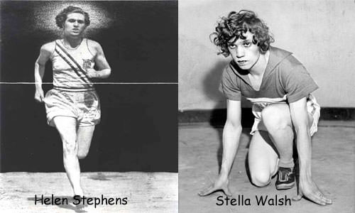 Helen Stephens and Stella Walsh