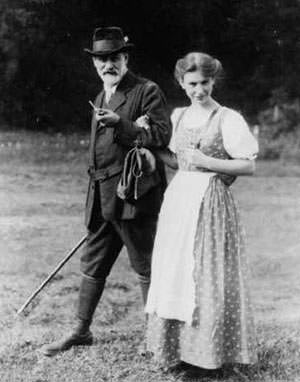 Sigmund and Anna Freud