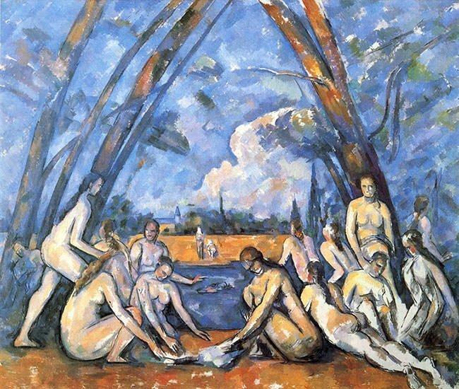 Những người tắm của Paul Cazanne