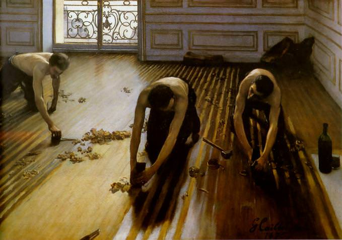 The Floor Scrapers by Gustave Caillebotte