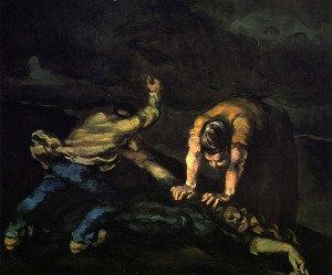 The Murder by Paul Cezanne