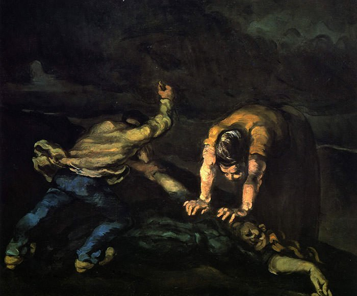 The Murder by Paul Cezanne