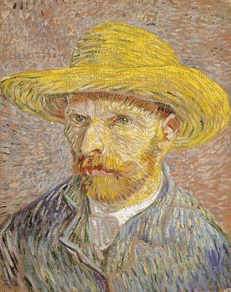 Van Gogh Self-Portrait with Straw Hat