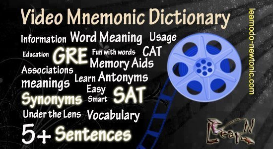 Vegetate Mnemonic Dictionary Video | 5+ Vegetate Sentences