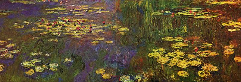 water lilies series paintings - Monet Coloring Pages Water Lilies