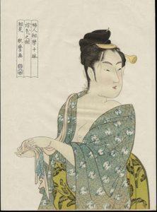 A print from the Ten Studies in Female Physiognomy by Kitagawa Utamaro
